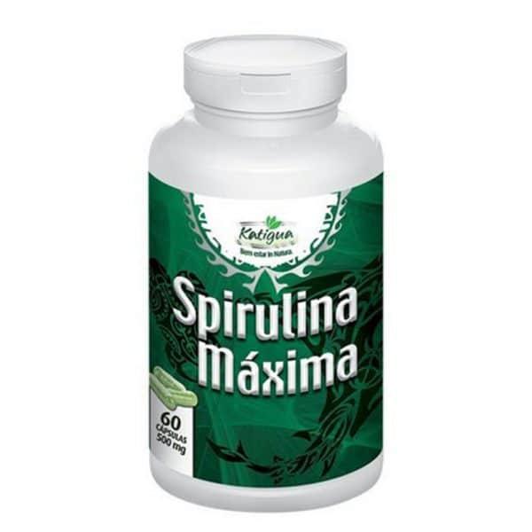 Spirulina com 60 cápsulas